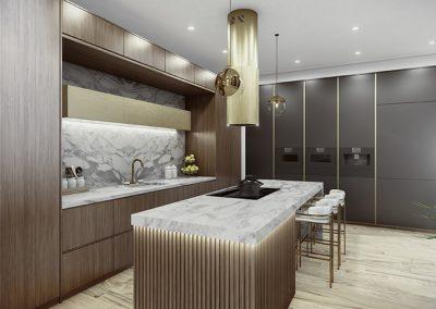 Stella Rossa Design Build_3D visualisation_Kitchen